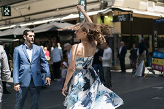 Summer Dance (McLovin 2.0) Tags: candid people street portrait streetphotgraphy urban city melbourne summer blue dress fashion style couple dance hair suit sony a7s 55mm shadows