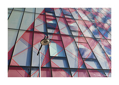 Somewhere in Dublin (PeteZab) Tags: glass reflection lines pattern building architecture modern contemporary design streetlight peterzabulis dublin