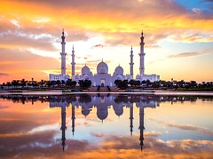 Sheikh Zayed Grand Mosque (Omar Dababneh) Tags: autumn colors clouds sky nikon emirates arab united uae mosque grand zayed sheikh tourism visit abudhabi