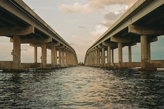 000374640032 (vonclay) Tags: 35mm nikon portra portra800 bridge causeway florida nikonfe