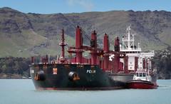 PEKIN Bulk Carrier. (Bernard Spragg) Tags: pekinbulkcarrier ships tugboats vessels lumix marine nautical heavy