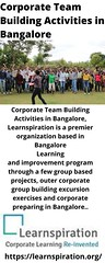 Corporate Team Building Activities in Bangalore (shawn194215) Tags: corporate team building activities bangalore koramangala
