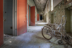 one of these lonely wheelchairs somewhere in Italy 2/? (UE-Photography - urban exploration & travel) Tags: exploration heilstätte hospital irrenanstalt italien italy manicomio ospedale ospedalepsichiatrico ruine urbanexploration urbex abandoned asylum creepy decay derelict europa exploring lostplace marode neglected rotten rusty spooky tragedy ue verlassen wheelchair