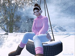 And like snowflakes, love falls like this, slowly melting ... (ღ Sandra Jupiter ღ) Tags: sl secondlife avatar snow fashion skin maitreya pumec catwa blueberry addams zenith mbirdie