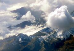 Italy?  France?  Mordor? (oobwoodman) Tags: aerial aerien luftaufnahme luftphoto luftbild caigva alps alpen alpes mountains montagne berge clouds wolken nuages italy italia italie italien france frankreich
