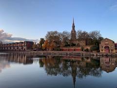 Shadwell Reflections (marc.barrot) Tags: shotoniphone urbanlandscape basin church reflection uk e1w london wapping shadwellbasin stpaul'sshadwell