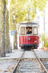 The end of the line.... (Bram de Jong) Tags: transport tram coach portugal autumn praiadasmaçãs sintra rails tree sycamoretree fujifilmxt3 travel woman