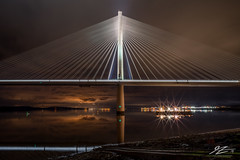 A Perfect Still Moment (TVZ Photography) Tags: hdr highdynamicrange firthofforth queensferrycrossing southqueensferry westlothian scotland river water reflection bridge architecture sky night evening lowlight longexposure sonya7riii zeiss loxia 21mm