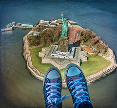 America the Beautiful (trs125) Tags: chucktaylors converse ladyliberty statueofliberty flynyon helicopter birdseyeview
