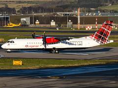 Loganair | ATR 72-500 | G-LMRZ (Bradley's Aviation Photography) Tags: egpd abz aberdeen aberdeenairport aberdeeninternationalairport scotland tartan loganair atr atr72 at72 cargo atr72500 atr72212a glmrz canon70d turboprop avgeek aviation flying flight plane airliner