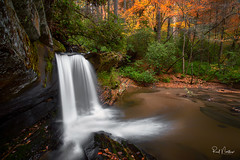 Raper Creek Falls (Reid Northrup) Tags: autumn fall nature cascades rrs longexposure trees forest river georgia landscape nikon rocks stream rapercreekfalls reidnorthrup water waterfall