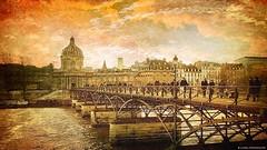 Spirit of Paris…  ༽   ˳♪⁎˚♫ (Mona Zimba) Tags: pontdesarts paris france bridge padlocks nopadlocks city artofimages visualart saariysqualitypictures superphotos