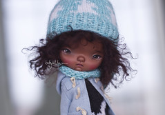 I repainted this Ododo sweet little lady, but still testing her hair (_babycatface_) Tags: ododo odododoll dollphotography doll dollrepaint dollcustom repaint repainted toy toyphotography t