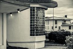 Nantasket, Hull, MA (PAJ880) Tags: nantasket beach hull ma deco 1930s bathhouse glass blocks detail roof lines bw mono
