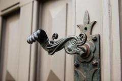 The Elephandle (JaaniicB) Tags: canon 77d eos simga 1750 f28 church handle god elephant riga luther door vintage