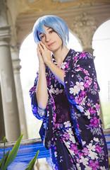 _MG_3088 (Mauro Petrolati) Tags: altea rei ayanami cosplay cosplayer lucca comics games 2019 palazzo pfanner kimono yukata version neon genesis evangelion first children best grill girl