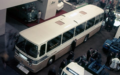 glc - aec sabre-ecw coach on display commercial motor show earls court 1970 (johnmightycat1) Tags: bus london ecw aec demonstrator