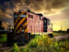 The train 4 (Bill Tanata) Tags: landscape rural prairie train engine tracks sky outdoors country countryside photoart northdakota railroad