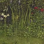 03f Гентский алтарь Центральный образ, фрагмент растения