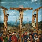01а Ян ван Эйк. Диптих Распятие и Страшный Суд, фрагмент, 1425