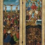 01 Ян ван Эйк. Диптих Распятие и Страшный Суд, 1425. Метрополитен