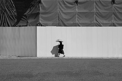 (cherco) Tags: japan woman umbrella shadow minimalism walk kyoto sun composition canon composicion city ciudad chica calle solitario silhouette street lonely light alone blackandwhite monochrome happyplanet asiafavorites