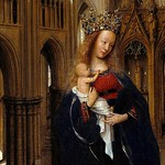 10a Ян ван Эйк. Мадонна в церкви, фрагмент