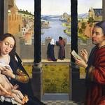 14а Ван дер Вейден. Евангелист Лука (автопортрет)  рисует Мадонну, фрагмент