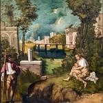 48 Джорджоне. Гроза, 1508. Академия, Венеция