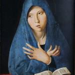 41 Антонелло да Мессина. Мадонна-Аннунциата, 1473. Мюнхен, Старая пинакотека)