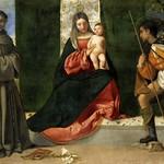49 Тициан. Мадонна с  Св. Антонием Падуанским и Св. Рохом, 1511. Прадо