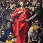 83 Зль Греко. Совлечение одежд, 1577-79. Алтарь ризницы Толедского собора