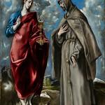 91 Эль Греко. Иоанн Богослов и св. Франсиск, 1600-е. Прадо