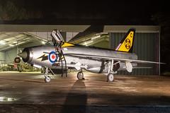 Lightning F3 XR713 / XR718 - Lightning Preservation Group Bruntingthorpe (stu norris) Tags: lightningf3 xr713xr718 lightningpreservationgroup bruntingthorpe xr713 xr718 englishelectric lightning raf fighter jet coldwar classic historic vintage night outdoors 111squadron