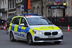 BX19 HCA (S11 AUN) Tags: london metropolitan police bmw 218i 2series grantourer panda car irv incident response unit 999 emergency vehicle metpolice bx19hca