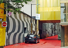 When Art meets an Alleyway (HereInVancouver) Tags: alley colors patterns mural artwork painted street city urban vancouver bc canada canong3x ngc