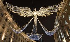 Christmas light Angel on Regent Street (Seán Noel O'Connell) Tags: angel christmas christmaslights london regentstreet nightphotography