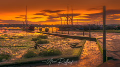 Pin Mill Golden Low Tide (Aron Radford Photography) Tags: yellow pin mill suffolk east anglia river orwell sunrise dawn golden hour light water boat low tide jetty slip way