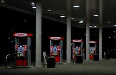 Gas Stop. (Tim @ Photovisions) Tags: xt2 gas fuji pumps fujifilm nebraska night hyvee