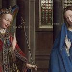 08a Ян ван Эйк - Благовещение, фрагмент около 1434-1436