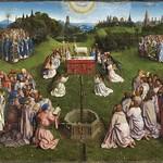 03b Гентский алтарь Центральный образ, Поклонение Агнцу