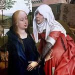 15 Рогир ван дер Вейден. Встреча Марии и Елизаветы, фрагмент, 1440-45