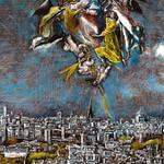 97а Эль Греко.  Фрагмент плана и вида Толедо, Облачение Марией св. Идельфонса