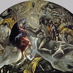 86в Эль Греко. Погребение графа Оргаса, небесный план, 1586-88. Толедо