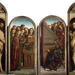 03g Гентский алтарь Фрагменты Адам и Ева, хор ангелов
