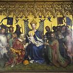23 Стефан Лохнер Центральная часть триптиха Поклонение волхвов Кельнский собор  1440