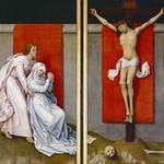 20 Ван дер Вейден. Распятие с Марией и Иоанном Богословом, 1460