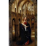 10 Ян ван Эйк. Мадонна в церкви, 1438. Берлинская галерея