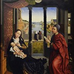 14 Ван дер Вейден. Евангелист Лука рисует Мадонну, 1440. Мюнхенская Пинакотека