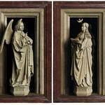 10 Ян ван Эйк. Диптих Благовещение. Гризайль, ок 1436